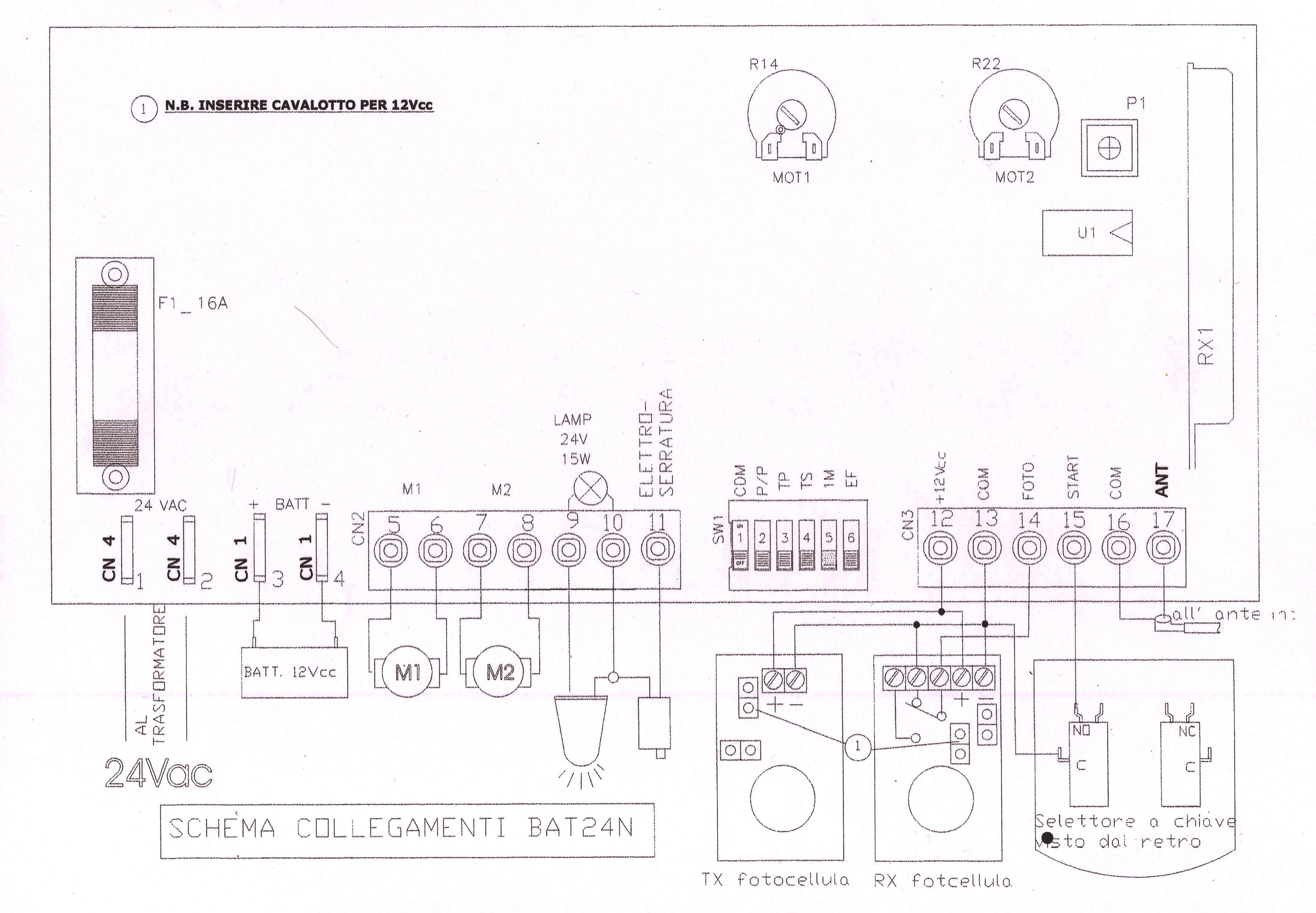 Schema Elettrico Cancello A Due Ante.Kit Automazione Cancello Due A