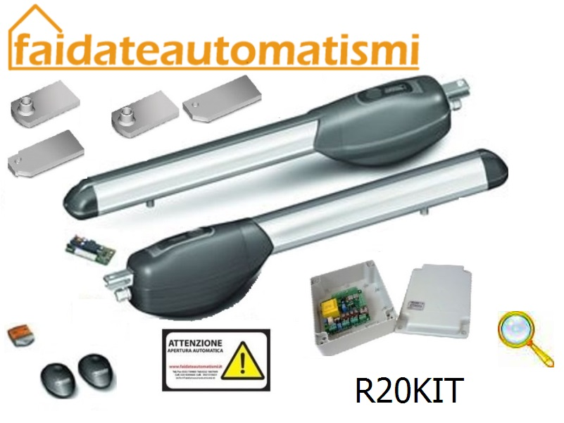 KIT AUTOMAZIONE CANCELLO BATTENTE DUE ANTE