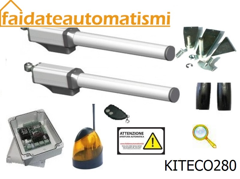 Kit Apricancello Due Ante.Kit Automazione Cancello Battente Due Ante Oleodinamico