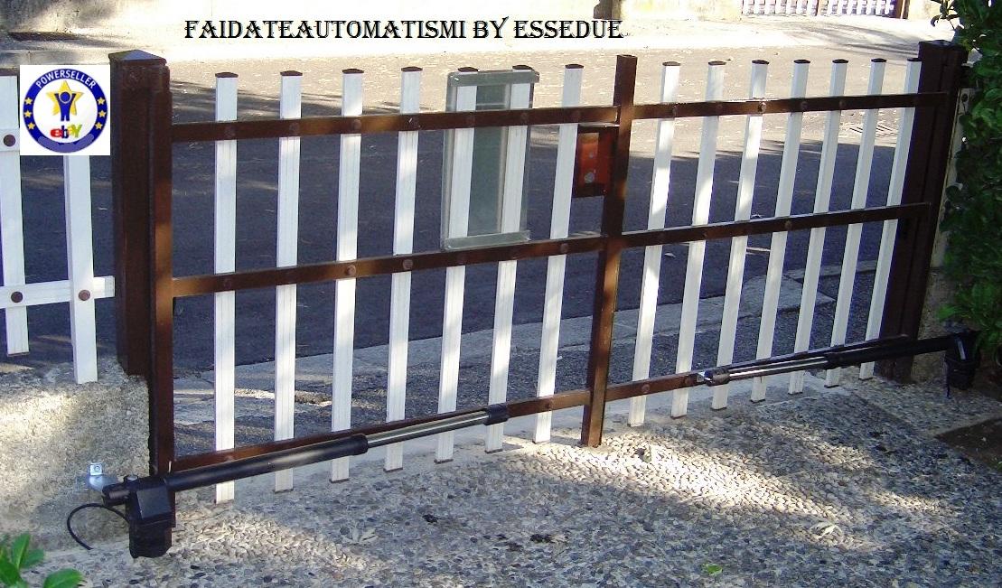 Cancello A Due Ante Battenti.Kit Automazione Cancello Scorr