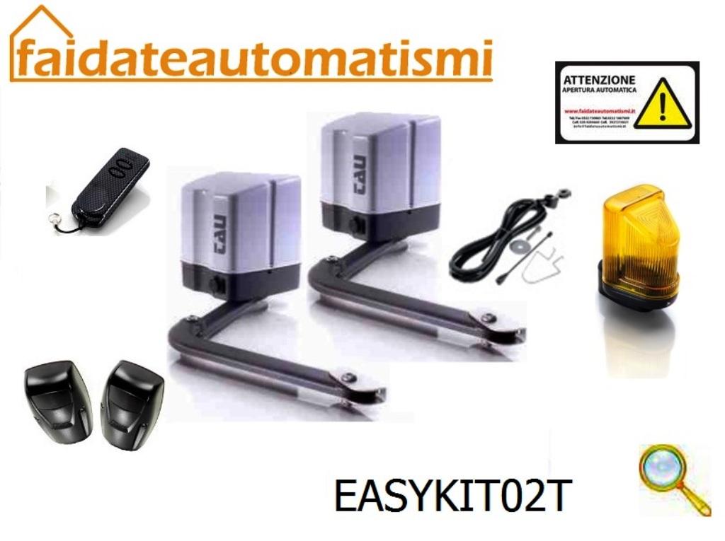 Motori Per Cancelli A Due Ante.Easykit02t Kit Automazione Cancelli Battenti 220v
