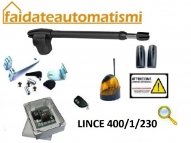 KIT AUTOMAZIONE CANCELLO BATTENTE UN ANTA 230V